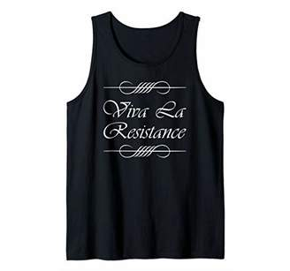 Viva La Resistance French Language Saying Cool Novelty Gift Tank Top