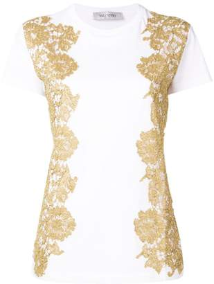 Valentino metallic lace T-shirt