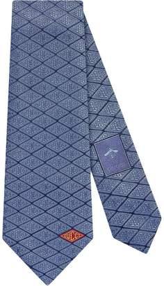 Gucci game silk tie