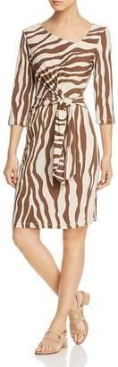 Leota Celeste Zebra-Print Dress
