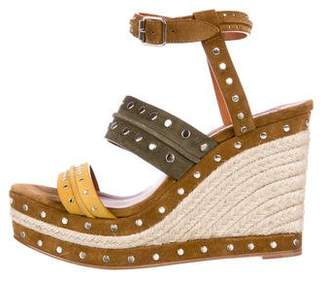 Lanvin Studded Wedge Sandals