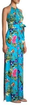 Parker Silk Floral Halter Jumpsuit