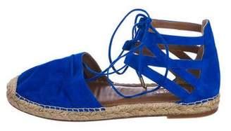 Aquazzura Suede Espadrille Sandals