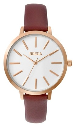 Women's Breda Joule Round Leather Strap Watch, 37Mm $80 thestylecure.com