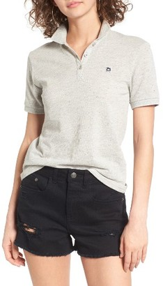 Women's Obey No. 89 Cotton Polo Shirt $49 thestylecure.com