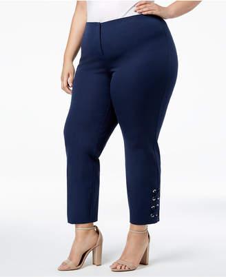Alfani Plus Size Hollywood-Waist Pants, Created for Macy's