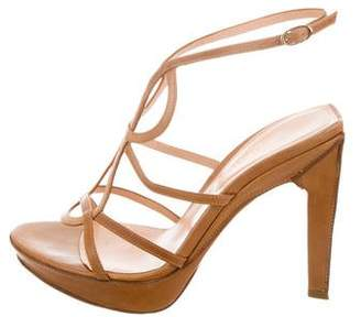 Sergio Rossi Cutout Leather Sandals