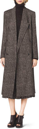 Michael Kors Smudged Plaid Overcoat