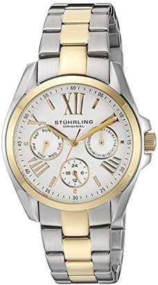 """Stuhrling Original Women's 494.02 """"Regent Dynamo"""" 23k Yellow Gold Plating and Stainless Steel Two-Tone Watch"""