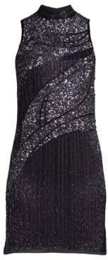 Parker Black Courtney Beaded Mini Dress