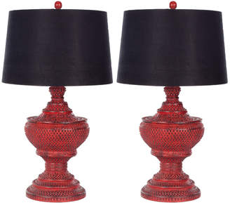 Safavieh Set Of 2 29In Chinese Urn Table Lamps