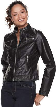 1f771408aa05e J 2 Juniors  J-2 Faux Leather Moto Jacket