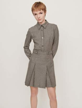 Maje Plaid jacket-style coat