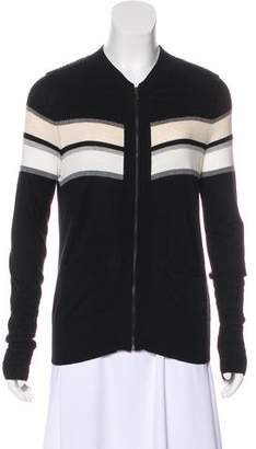Thomas Wylde Striped Zip-Up Cardigan