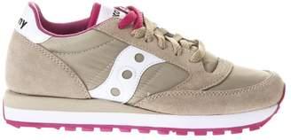 Saucony Jazz Beige Nylon & Suede Sneakers