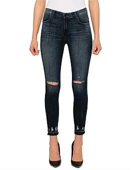 J Brand Alana High Rise Skinny Jean With Raw Hem