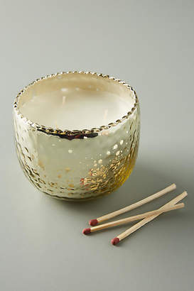 Anthropologie Hammered Mercury Glass Candle