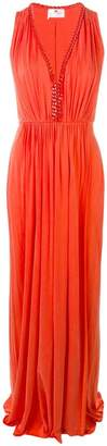 Elisabetta Franchi sleeveless chain trim gown