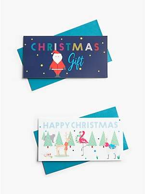John Lewis & Partners ABC Santa Money Wallet, Pack of 2