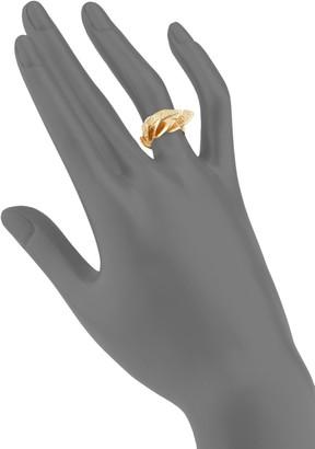 Aurelie Bidermann Talitha Goldplated Leaf Ring