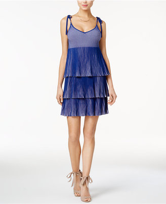 GUESS Annette Pleated Tie-Strap Dress $128 thestylecure.com
