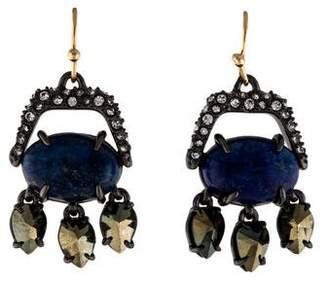 Alexis Bittar Lapis Chandelier Wire Earrings