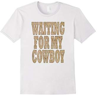 Burlap western country girl waiting for my cowboy shirt