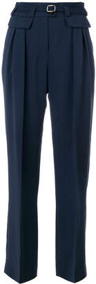 A.P.C. belted straight-leg trousers
