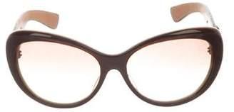 Kieselstein-Cord Puff Sterling Silver Sunglasses