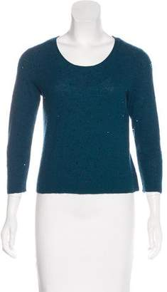 Eileen Fisher Embellished Wool Knit Sweater