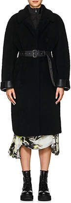 Prada Women's Belted Shearling Coat - Black
