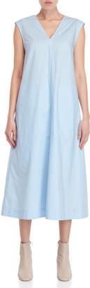 Ter Et Bantine Light Blue V-Neck Midi Dress