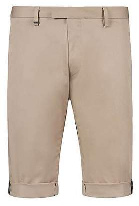 HUGO BOSS Slim-fit shorts in patterned stretch-cotton gabardine
