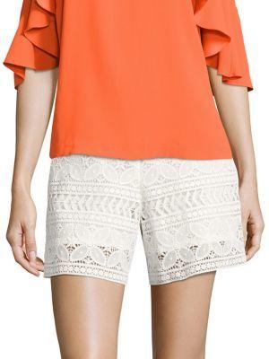Trina Turk Geranium Lace Shorts $188 thestylecure.com