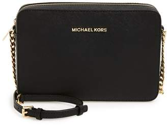 MICHAEL Michael Kors 'Large Jet Set' East/West Saffiano Crossbody Bag