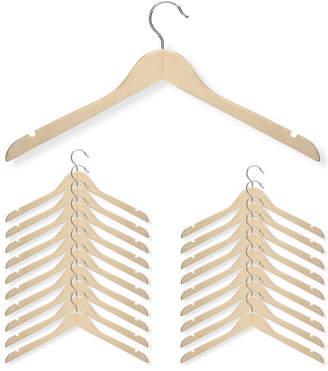 Honey-Can-Do 20-Pc. Basic Shirt Hanger, Maple Finish
