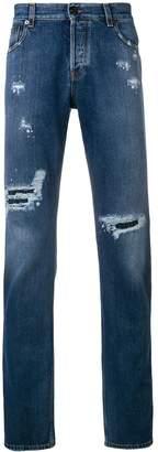 Roberto Cavalli distressed regular-fit jeans