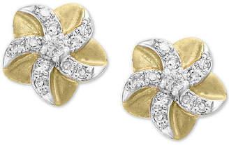 Effy Kidz Children's Diamond Flower Stud Earrings (1/10 ct. t.w.) in 14k Gold