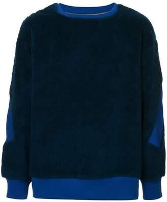 Facetasm oversized colour block sweatshirt