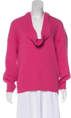 Gianfranco Ferre Virgin Wool Rib Knit Sweater