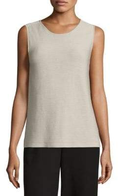 Eileen Fisher Rib-Knit Shell