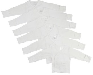Bambini Preemie Long Sleeve Side Snap With Mitten 6 Packcuff