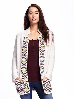 Jacquard Open-Front Cardi-Coat for Women $59.94 thestylecure.com