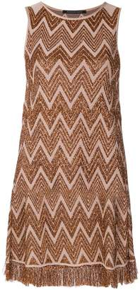 Valenti Antonino embroidered fitted dress