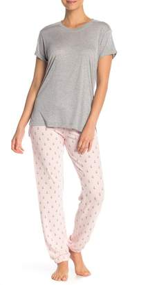 PJ Salvage Peachy Party Banded Pajama Pants
