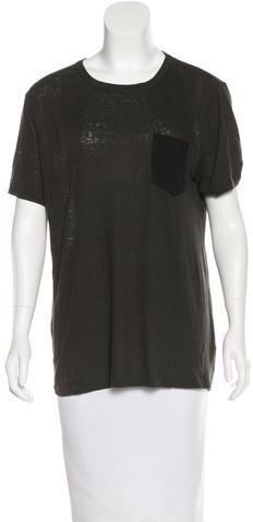 Alexander WangT by Alexander Wang Short Sleeve Crew Neck T-Shirt