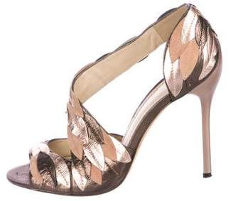 Brian Atwood Leather Cutout Pumps