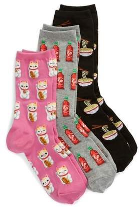 Hot Sox 3-Pack Ramen Socks