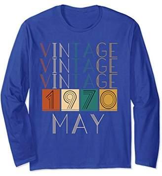 Vintage Retro May 1970 Long Sleeve TShirts