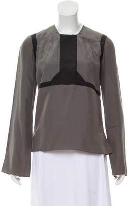 Derek Lam Silk Long Sleeve Top